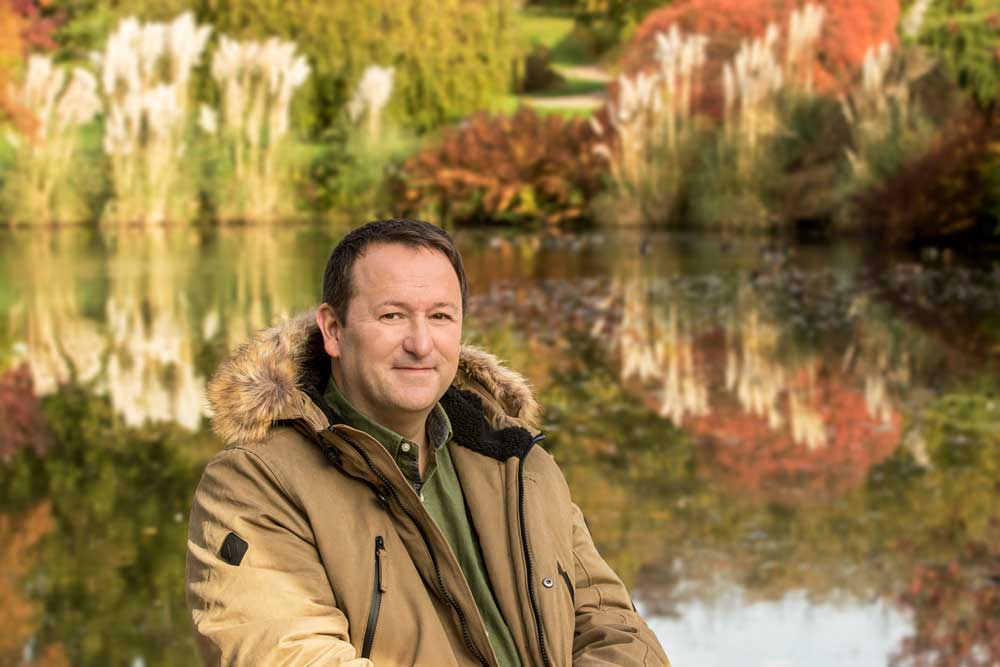 Mark Lane photo shoot at Wakehurst